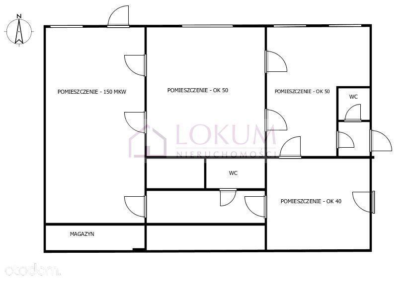 lokal biurowo-handlowo-usługowy 310 m2, Diamentowa