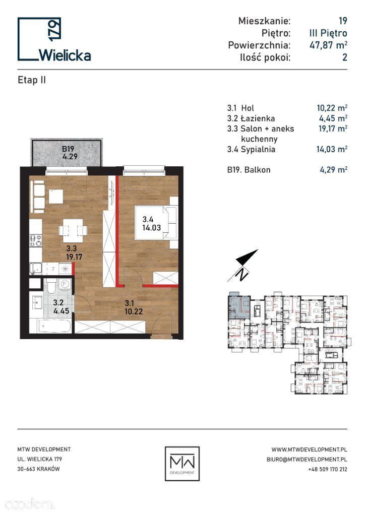 Wielicka 179   etap II   budynek A mieszkanie 19