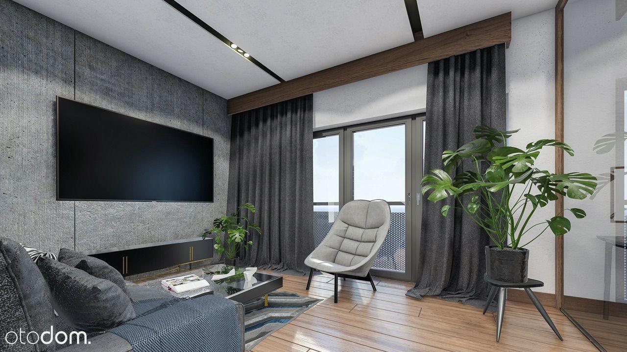 3-pokojowy apartament z dużymi przeszkleniami