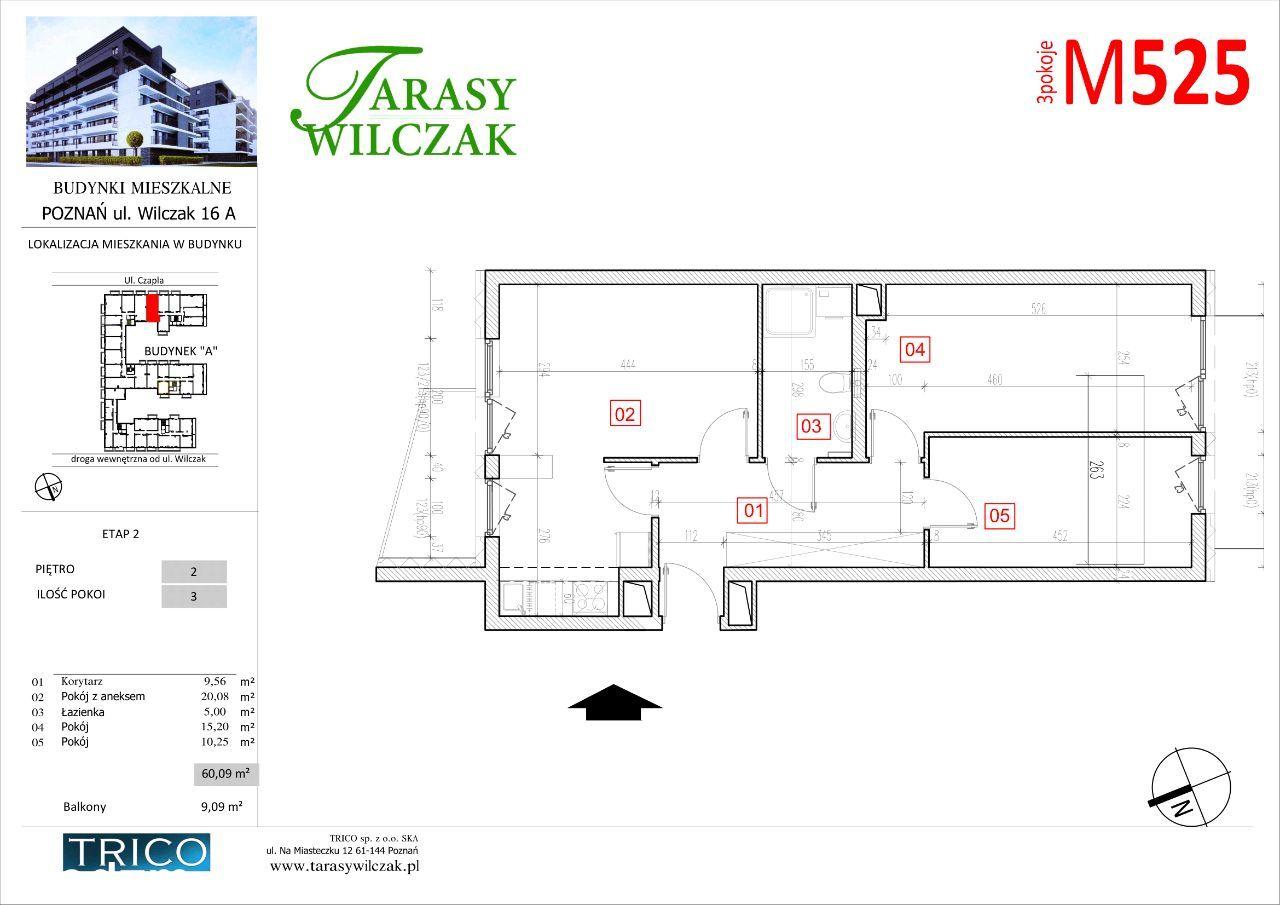 Tarasy Wilczak - 2 etap - mieszkanie 525