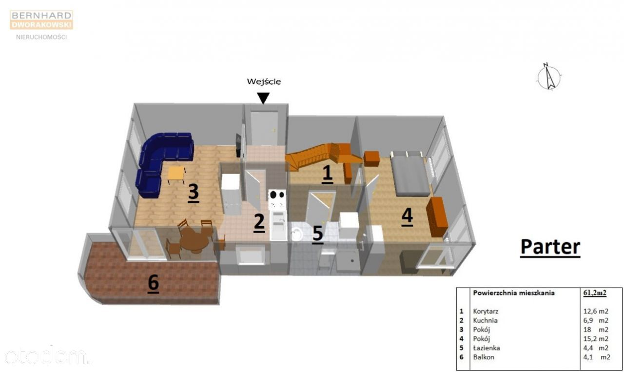 Dwupiętrowe mieszkanie (ok 100m2)