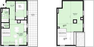 Gotowe m. dwupoziomowe 79,84 m2 Zielony Brochów