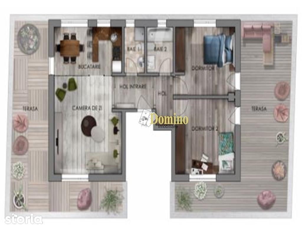Penthouse 3 Camere, Semicentral