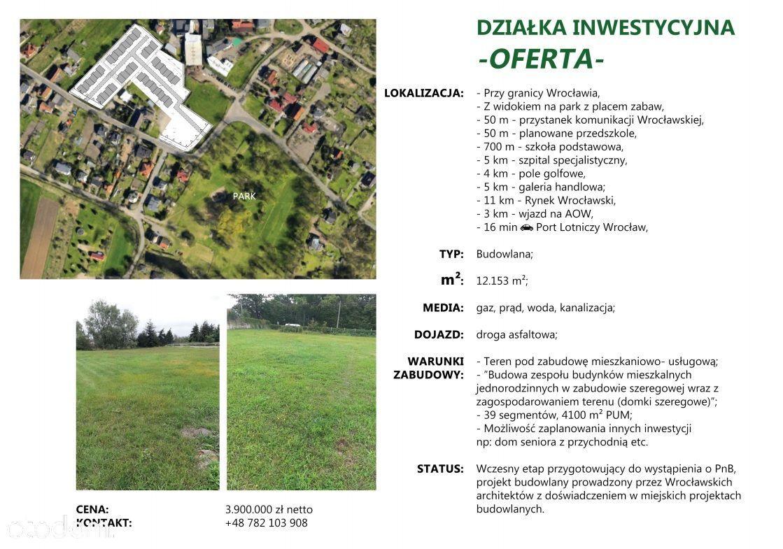 teren inwestycyjny pod Wrocławiem