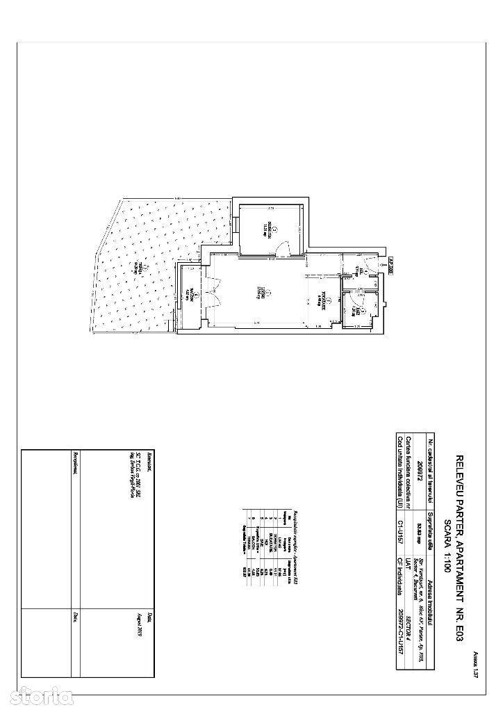 Apartament cu 2 camere si gradina privata