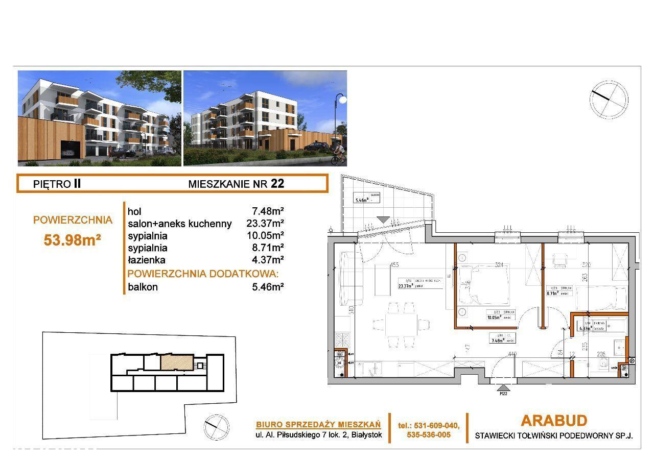 Nowa inwestycja! 3 pokoje na II piętrze