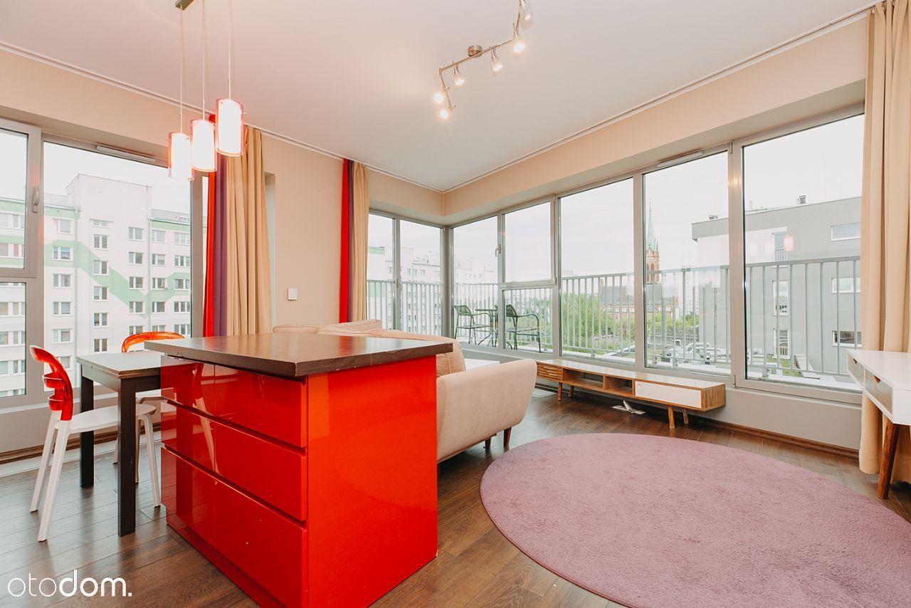 2 pokoje z widokiem, klimatyzacja, metro Młynów
