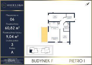 Osielsko Residence apartament 60 m2 2 pokoje
