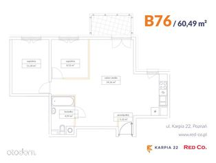 KARPIA 22, I etap, mieszkanie nr B 76