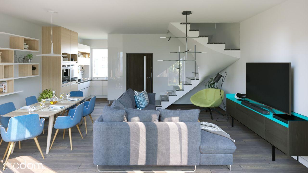Wygodne domy z dużymi oknami 70.96m2+ogód+poddasze