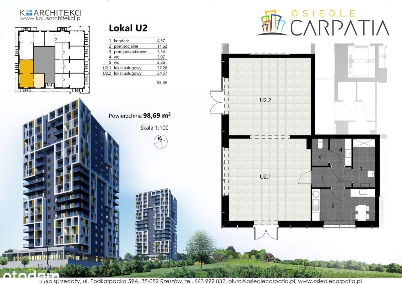 Lokal użytkowy Carpatia 98m2 - podpisany najem 10L