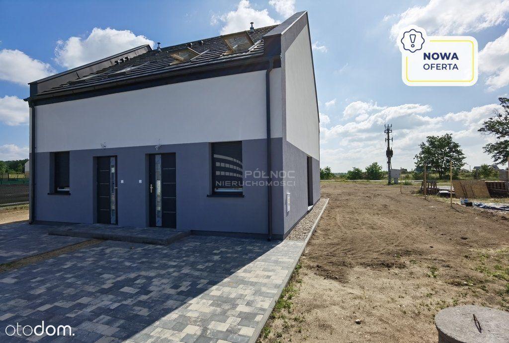 Połowa nowego domu 64 m2 działka 6 arów Grzymalin