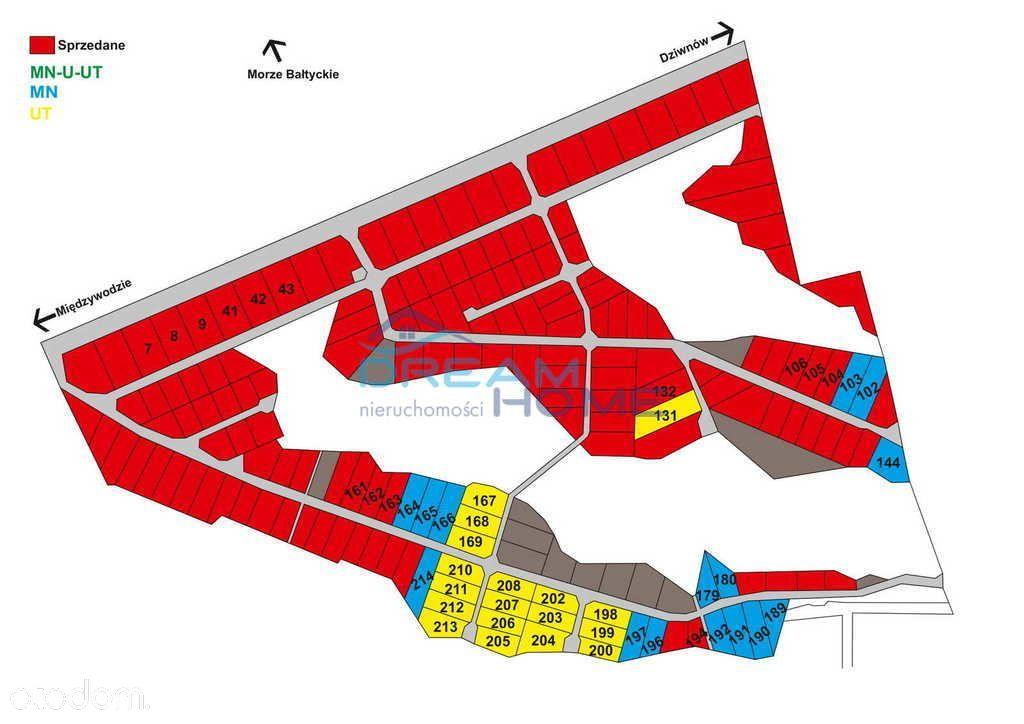Działka, 1 871 m², Dziwnów