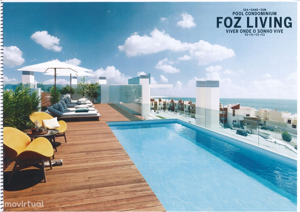Luxuoso T1 Com piscina e vista de Mar