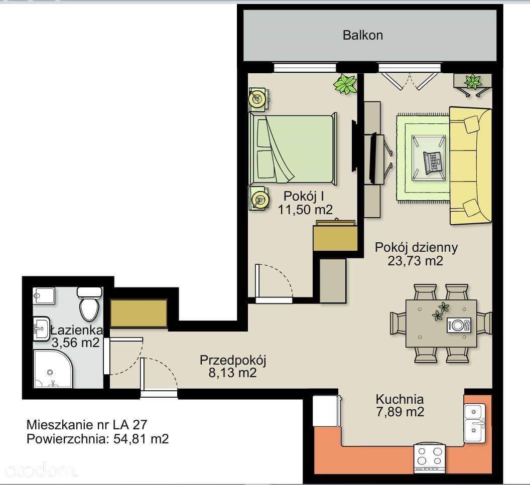 Osiedle Maja 2 - mieszkanie 54,81m2