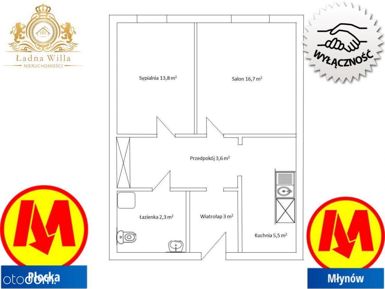 Mieszkanie, 44,90 m², Warszawa