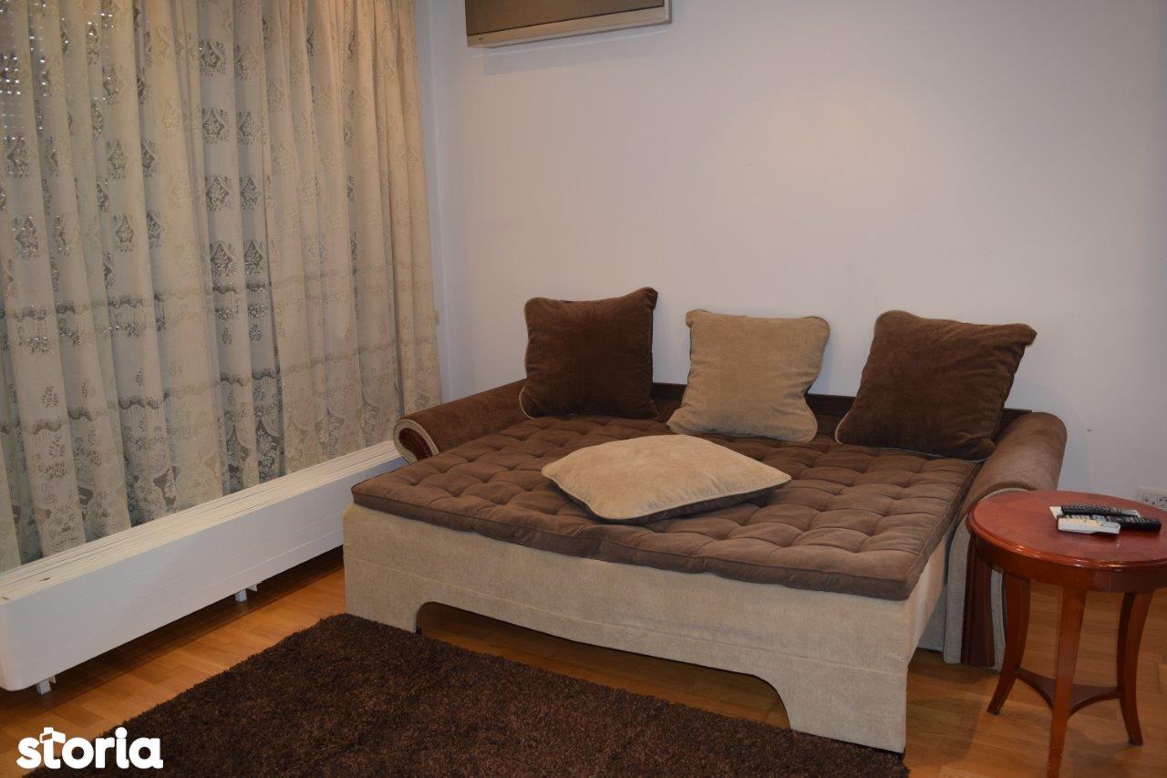 Baneasa 2 camere etaj 1/4 decomandat mobilat complet