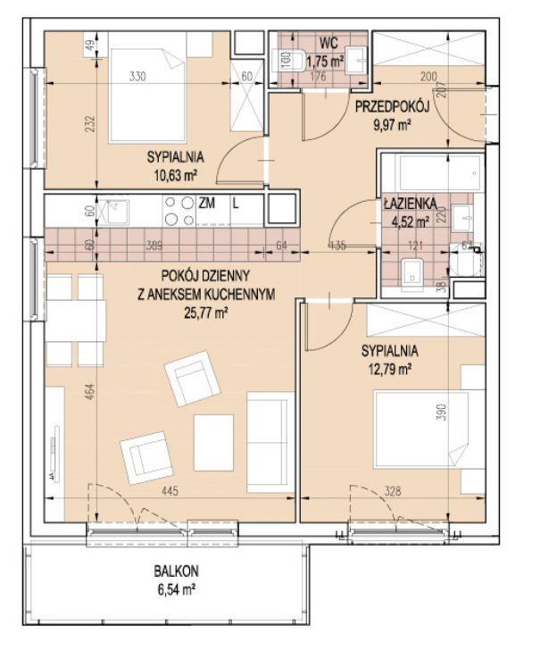 3 pokoje dla rodziny blisko Centrum- DUŻY BALKON