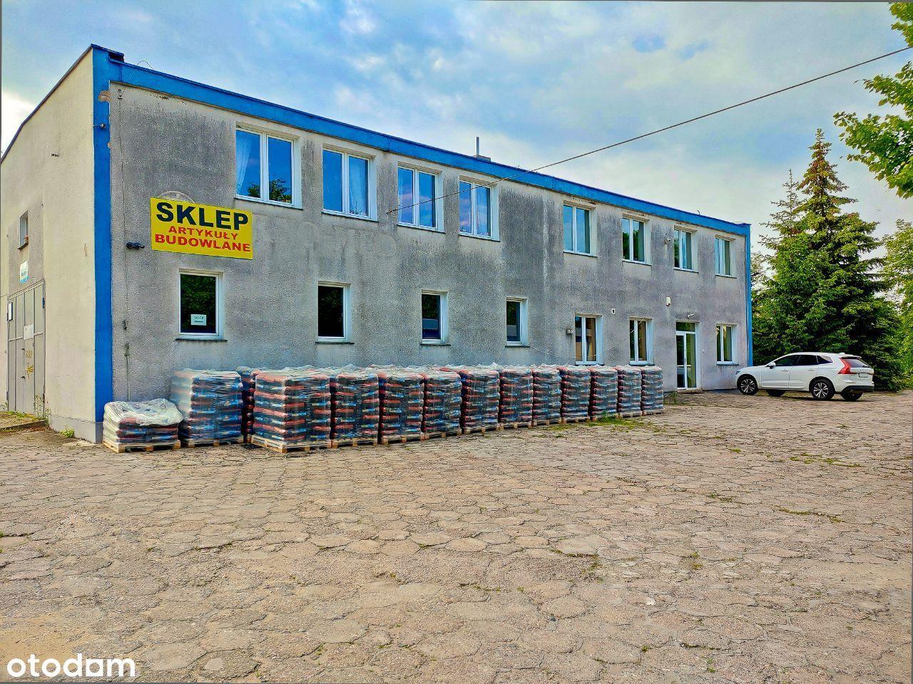 Nieruchomość komercyjna z hurtownią budowlaną .
