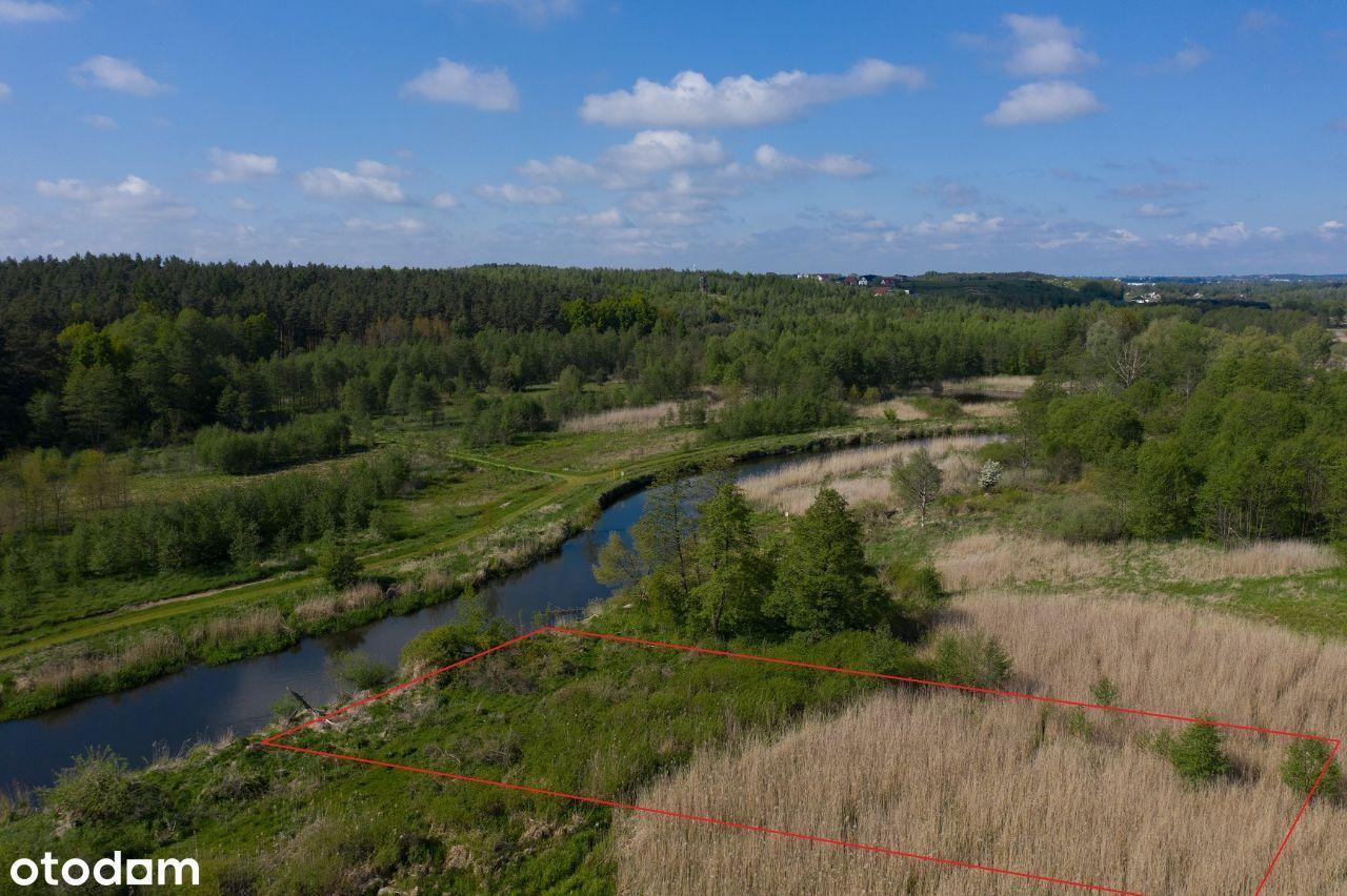 Przepiękna działka z linią brzegową rzeki Drwęcy