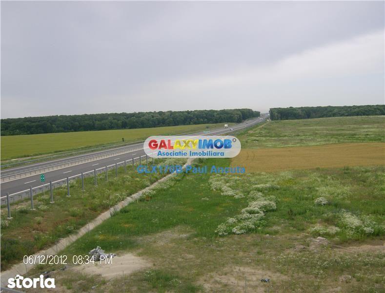 Teren  Snagov Ghermanesti 6000 mp acces la Nod Autostrada A3
