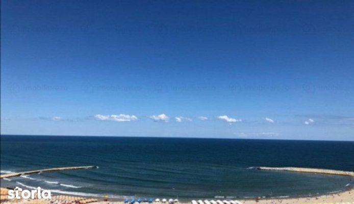 FALEZA NORD, bloc nou,  3 camere, vedere frontala la mare
