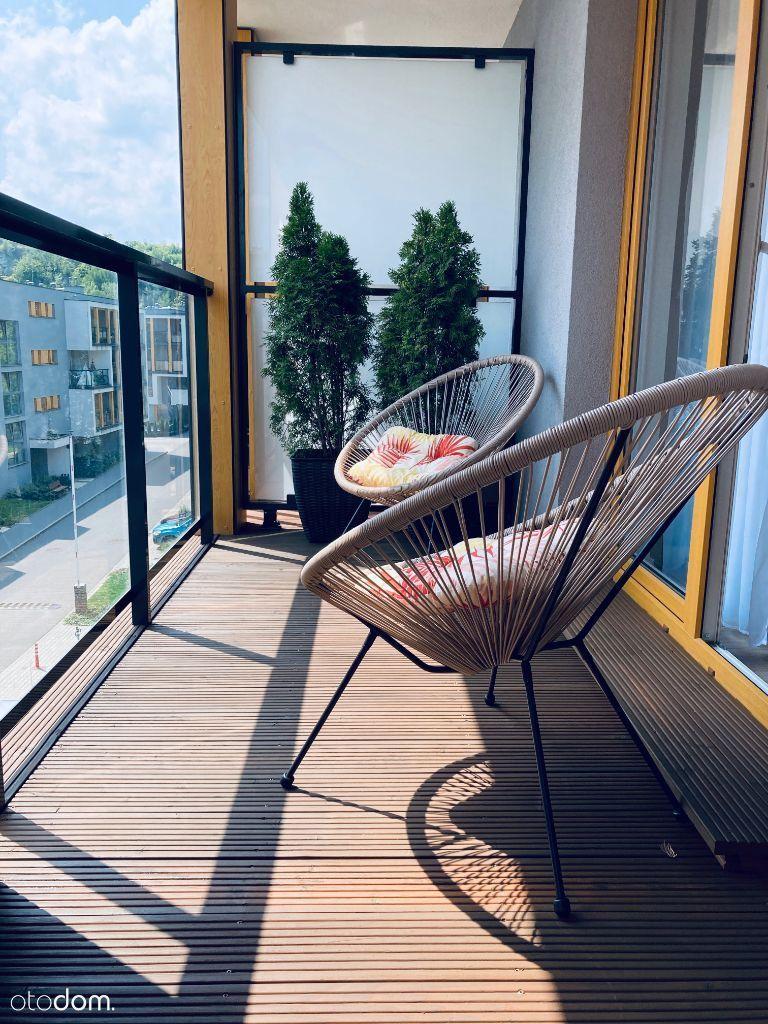 Kawalerka z dużym balkonem / Wielicka Garden