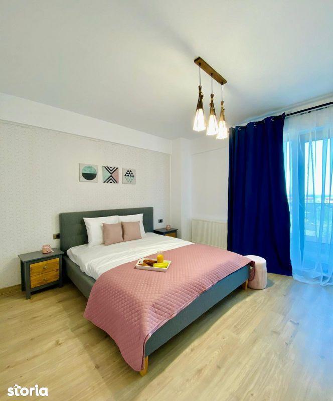 Apartament 2 camere mobilat cu 2 bai vedere catre Mare Mamaia Nord zon