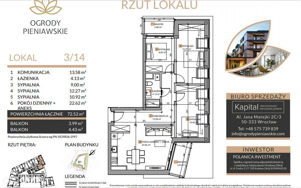 4 pokoje/ winda/ garaż/ 8% VAT/ Widok na Park!