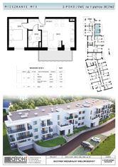 38,57m2-dwupokojowe mieszkanie z tarasem