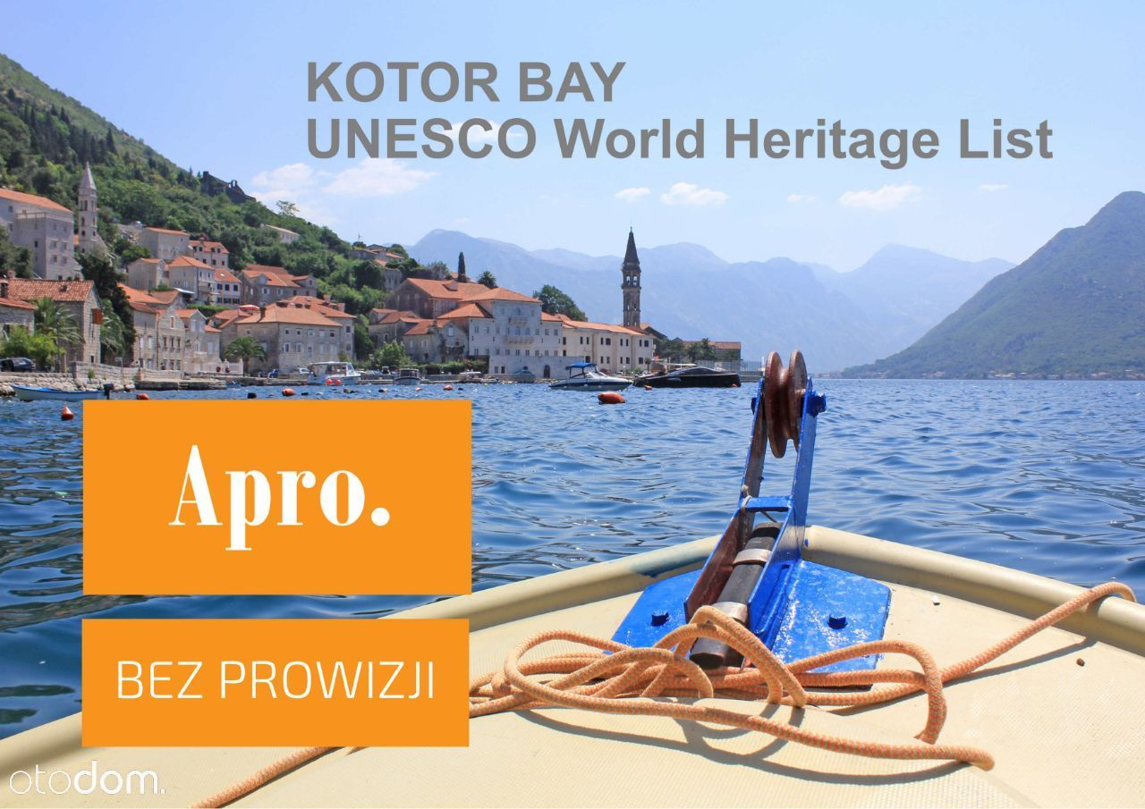 Czarnogóra, Zatoka Kotorska, apart. 49 m2, baseny
