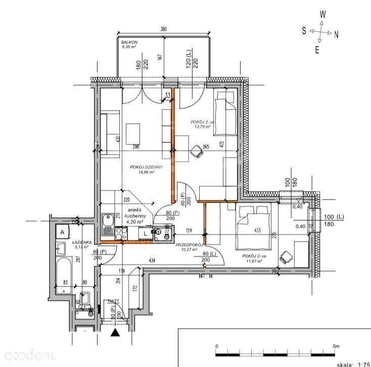 3 pokojowe mieszkanie na Węglinku