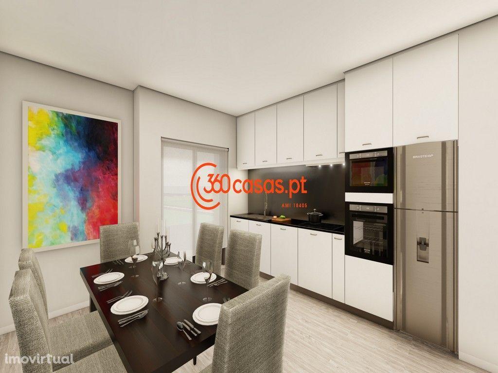 Apartamento T2 novo com garagem e arrecadação em Faro