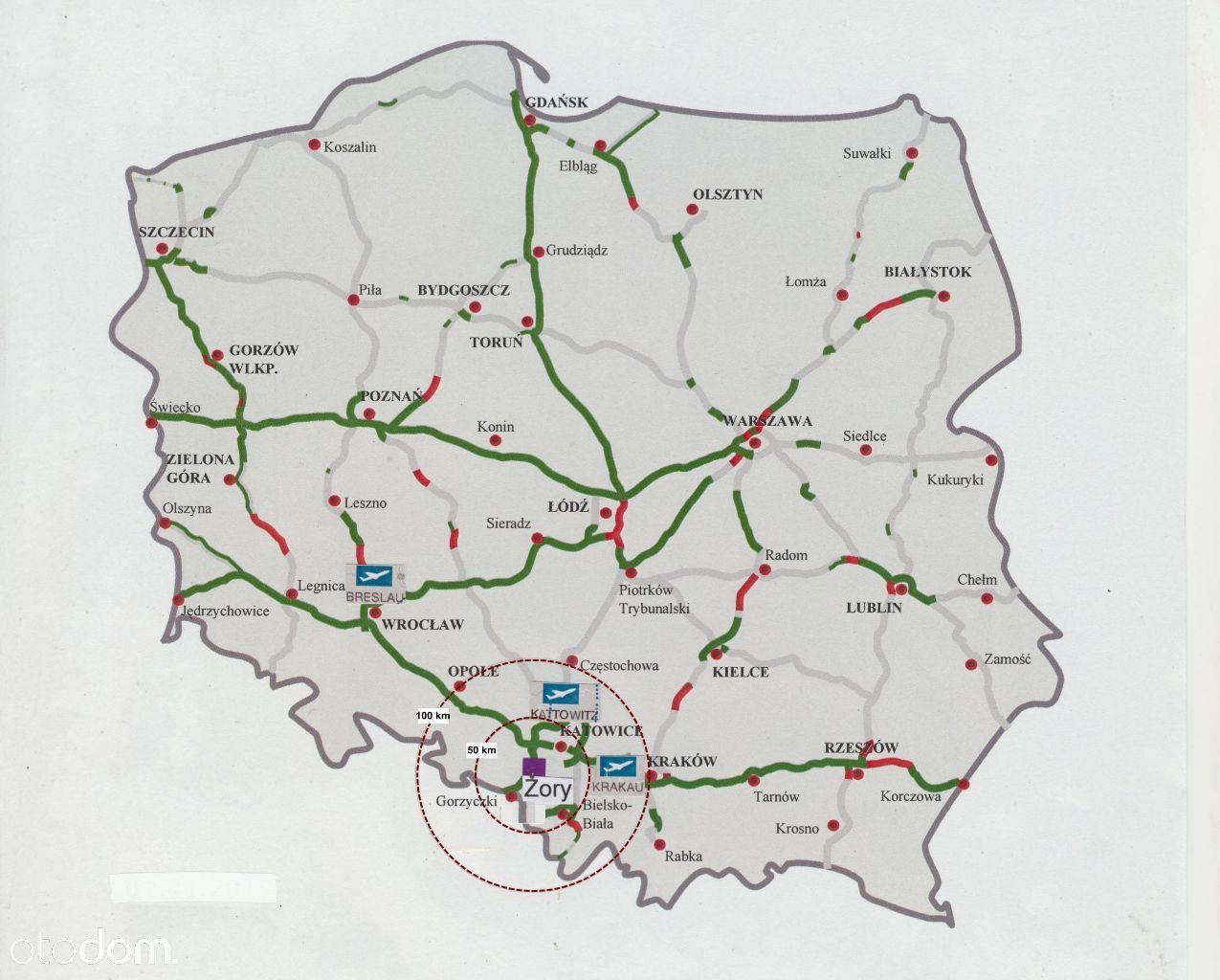 Handel-uslugi, idealne miejsce blisko autostr. A1