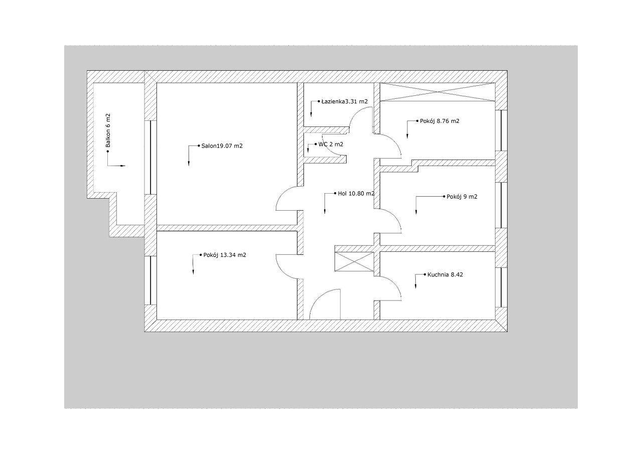 Dwustronne, rozkładowe, 4 pok(możliwe 5) + balkon