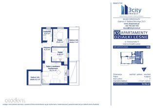 K9 Apartamenty M6 51,96 m2 - Gdynia Działki Leśne