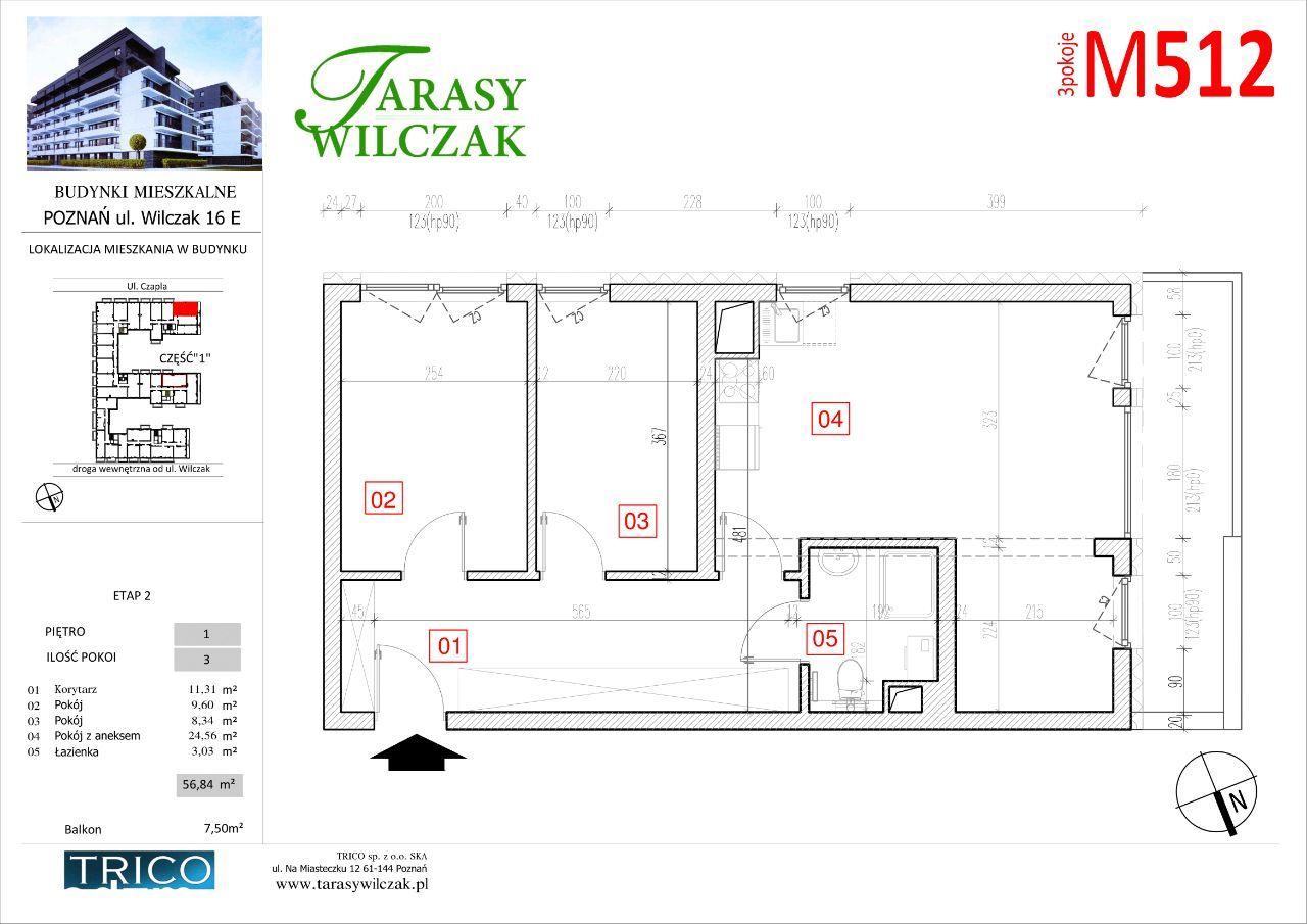 Tarasy Wilczak - 2 etap - mieszkanie 512