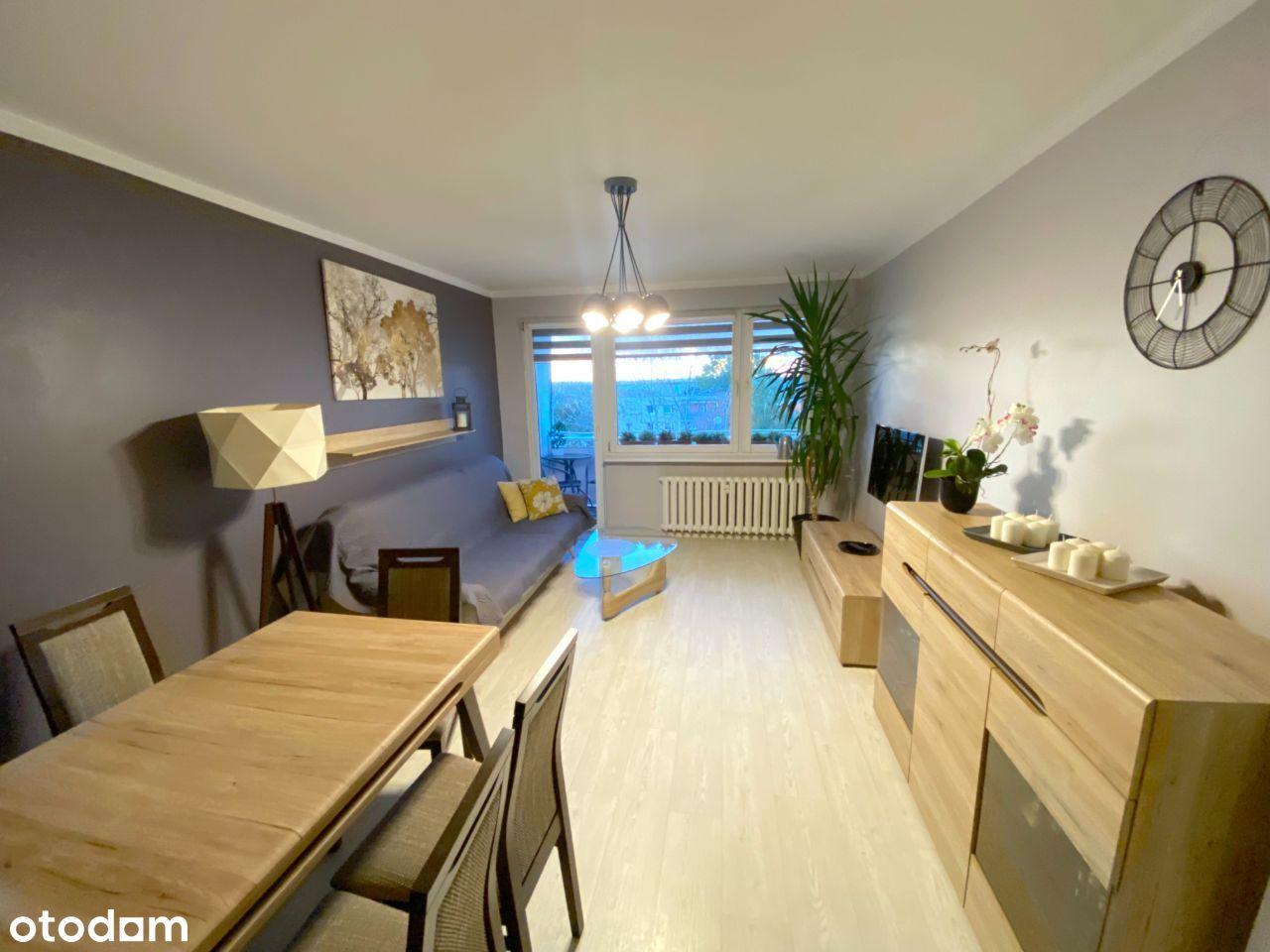 Przestronne 3 pokoje z balkonem, pełne wyposażenie