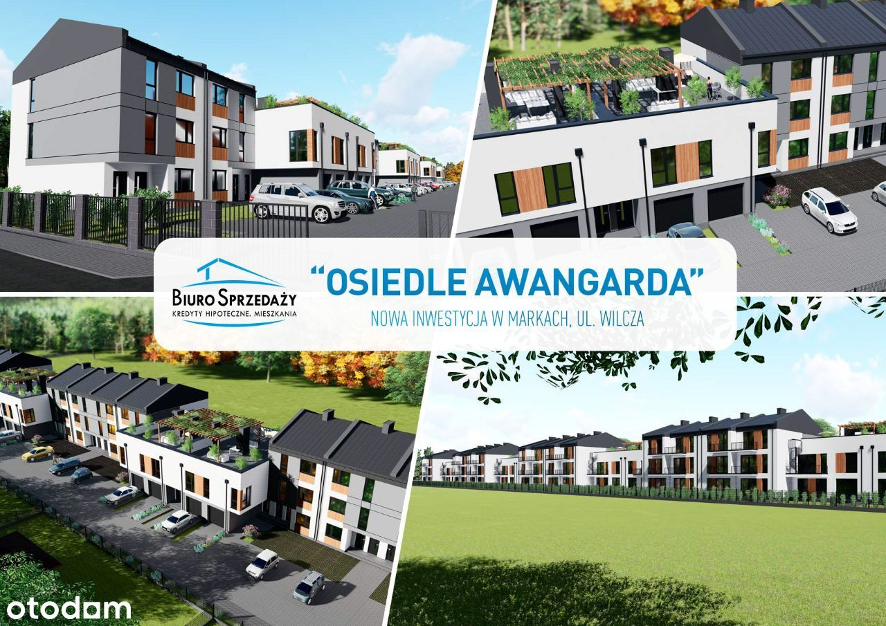 AWANGARDA - 5 pokoi,dwa poziomy,2 balkony, parking