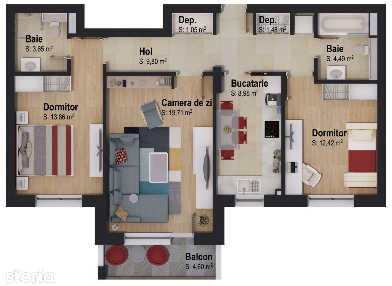 Apartament cu 3 camere by CASA NOBEL Brașov