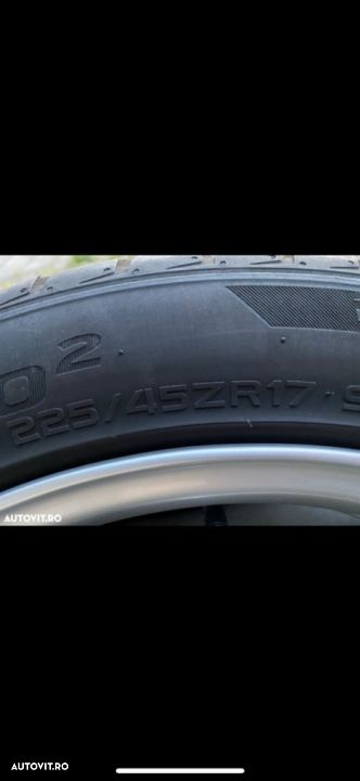 Cauc 225/45R17 Hankook dot 2017 vara 7-8mm 4buc - 5