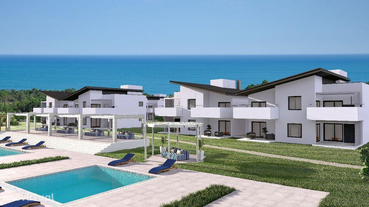 Apartamento com 5% yield garantido em resort com vista mar e golfe