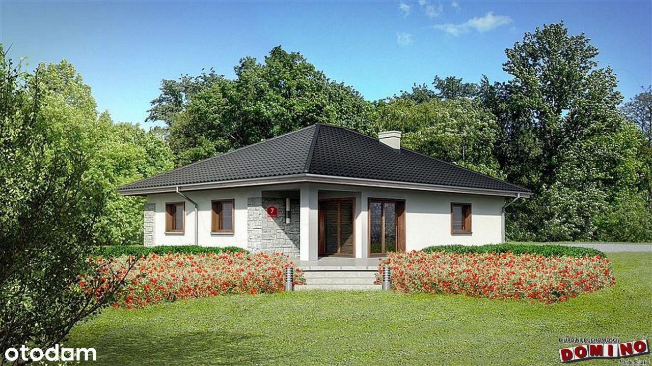 Dom w Goliszowcu, stan surowy, otwarty.