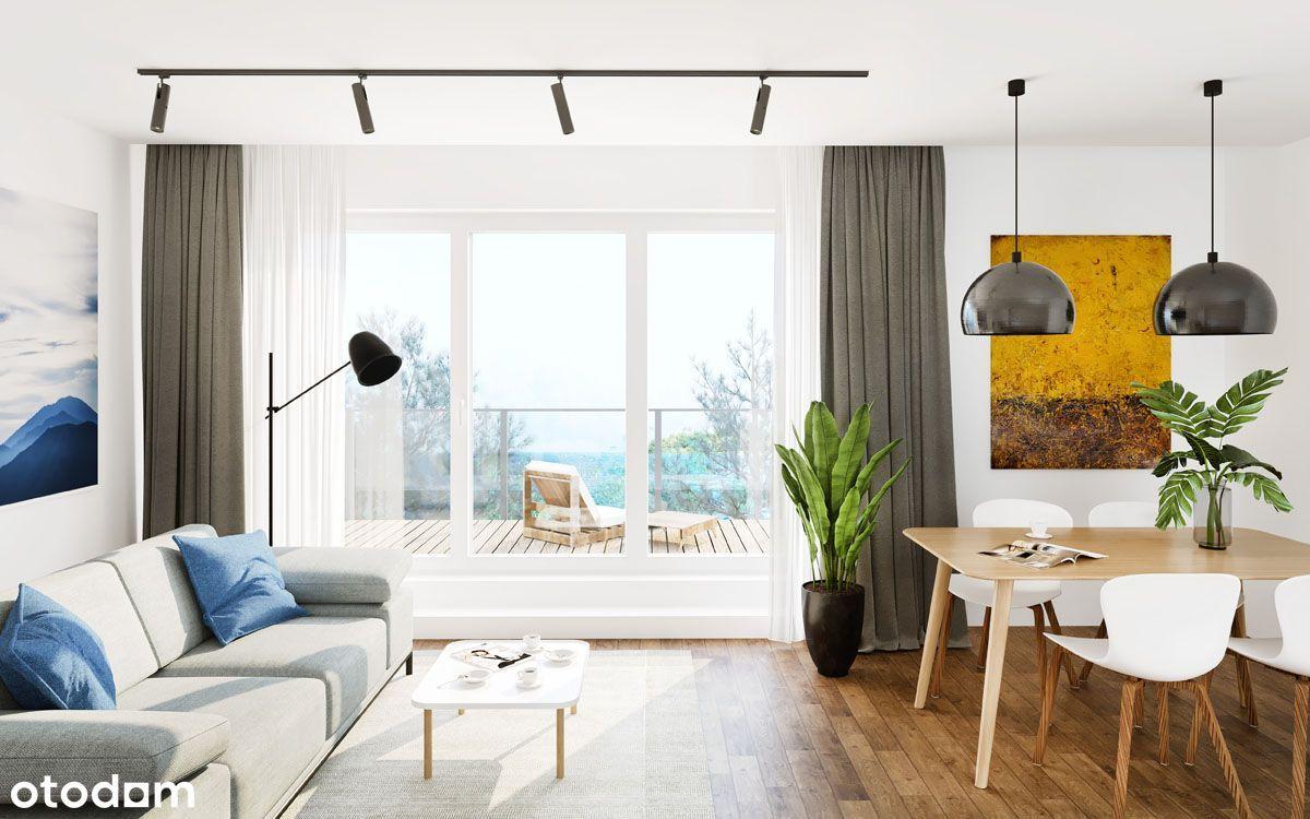 Apartament z przestronnym tarasem
