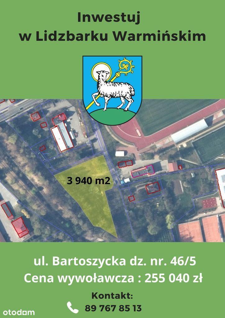 Działka, 3 940 m², Lidzbark Warmiński