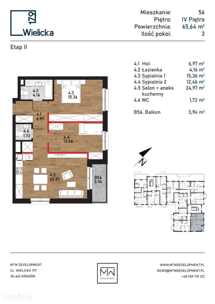 Wielicka 179 | etap II | budynek A mieszkanie 56