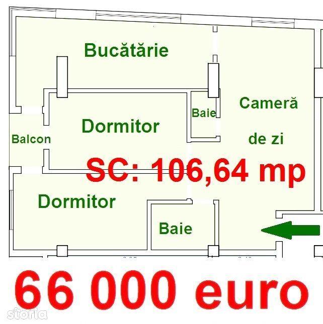 622 euro/mpc. Apartament 3 camere- Azure Residence- Doamna Stanca Lidl