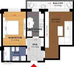 #Apartament PREDARE DECEMBRIE 2020, 2CD, 55 mp Iasi - Galata