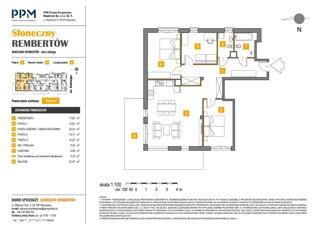 Przestronny apartament 98,39m² Warszawa Rembertów