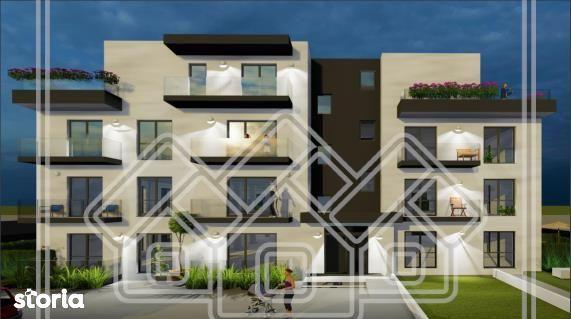 Ap.cu 3 camere, 2 balcoane si o  gradina de 95 mp, zona Turnisor